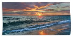 Beach Towel featuring the photograph Sunset Gulf Islands National Seashore by Tim Fitzharris