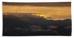Beach Sheet featuring the photograph Sunset by Gunnar Orn Arnason