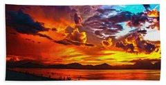 Sunset Happiness Beach Towel