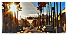 Sunset In Daytona Beach Beach Towel by Alice Gipson