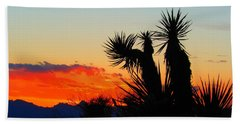 Sunset In Golden Valley Beach Towel