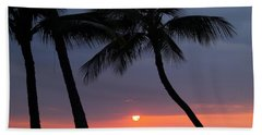 Sunset In Hawaii Beach Sheet