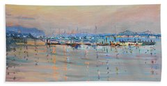 Sunset In Piermont Harbor Ny Beach Towel
