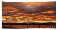Sunset In Tauranga New Zealand Beach Towel
