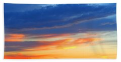 Sunset In The Black Mountains Beach Sheet