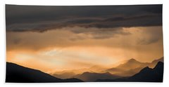Sunset In The Mountains Beach Towel