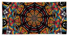 Sunset K 88 Kaleidoscope Beach Towel