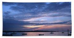 Beach Towel featuring the photograph Sunset by Karen Silvestri