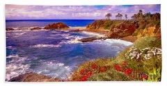 Sunset Laguna Beach California Beach Towel