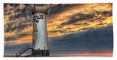 Sunset Lighthouse Beach Towel