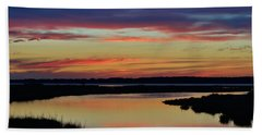 Sunset Marsh Beach Towel