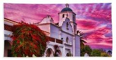 Sunset Mission San Luis Rey De Francia By Diana Sainz Beach Sheet