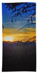 Beach Towel featuring the photograph Sunset Mountain To Mountain by Janie Johnson