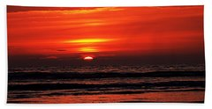 Beach Towel featuring the photograph Sunset by Nick Kloepping