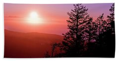 Sunset Off Mt Erie Washington Art Prints Beach Towel