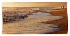 Sunset On A Beach Beach Sheet