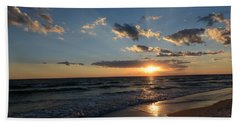 Beach Towel featuring the photograph Sunset On Alys Beach by Julia Wilcox