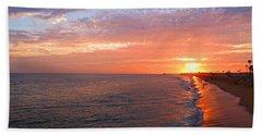 Sunset On Balboa Beach Towel