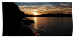 Beach Towel featuring the photograph Sunset On Halfmoon by Mim White