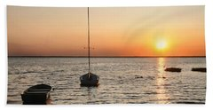 Sunset On Lbi Beach Towel by Diana Angstadt