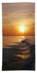 Beach Towel featuring the photograph Sunset On Long Island Sound by Karen Silvestri