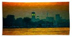 Sunset On Milwaukee's South Side  Beach Sheet