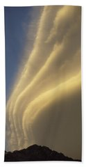 Sunset On Storm Clouds Near Mt Cook Beach Towel