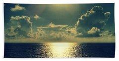 Sunset On The Atlantic Ocean Beach Towel by Paulo Guimaraes
