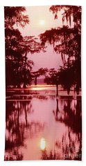 Beach Towel featuring the photograph Sunset On The Bayou Atchafalaya Basin Louisiana by Dave Welling
