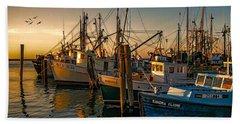 Sunset On The Fleet Beach Sheet