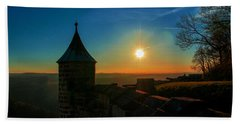 Sunset On The Fortress Koenigstein Beach Sheet