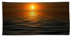 sunset on the Gulf Beach Towel