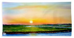 Sunset On The Marsh Beach Towel