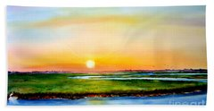 Sunset On The Marsh Beach Sheet