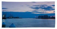 Sunset Over Chincoteague Inlet Beach Towel