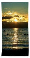 Sunset Over Lake Tahoe Beach Sheet