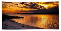 Sunset Over Little Assawoman Bay Beach Towel