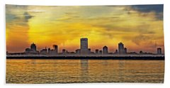 Sunset Over Milwaukee Beach Towel