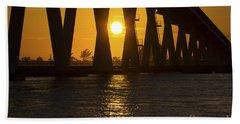 Sunset Over Sanibel Island Photo Beach Towel