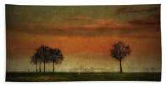 Sunset Over The Country Beach Towel