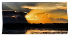 Sunset Over The Mead Wildlife Area Beach Towel
