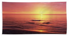 Sunset Over The Sea, Venice Beach Beach Towel by Panoramic Images