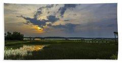 Sunset Over The Wando Beach Towel
