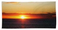 Sunset Painting - Orange Glow Beach Towel