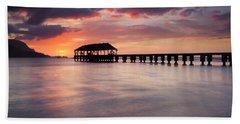 Sunset Pier Beach Sheet