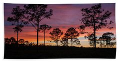 Beach Towel featuring the photograph Sunset Pines by Paul Rebmann