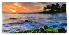 Sunset Poipu Beach - Kauai Beach Towel
