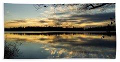 Sunset Reflection Beach Towel