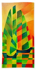 Beach Towel featuring the painting Sunset Sails And Shadows by Tracey Harrington-Simpson