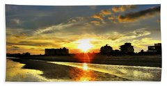 Beach Towel featuring the photograph Sunset by Savannah Gibbs